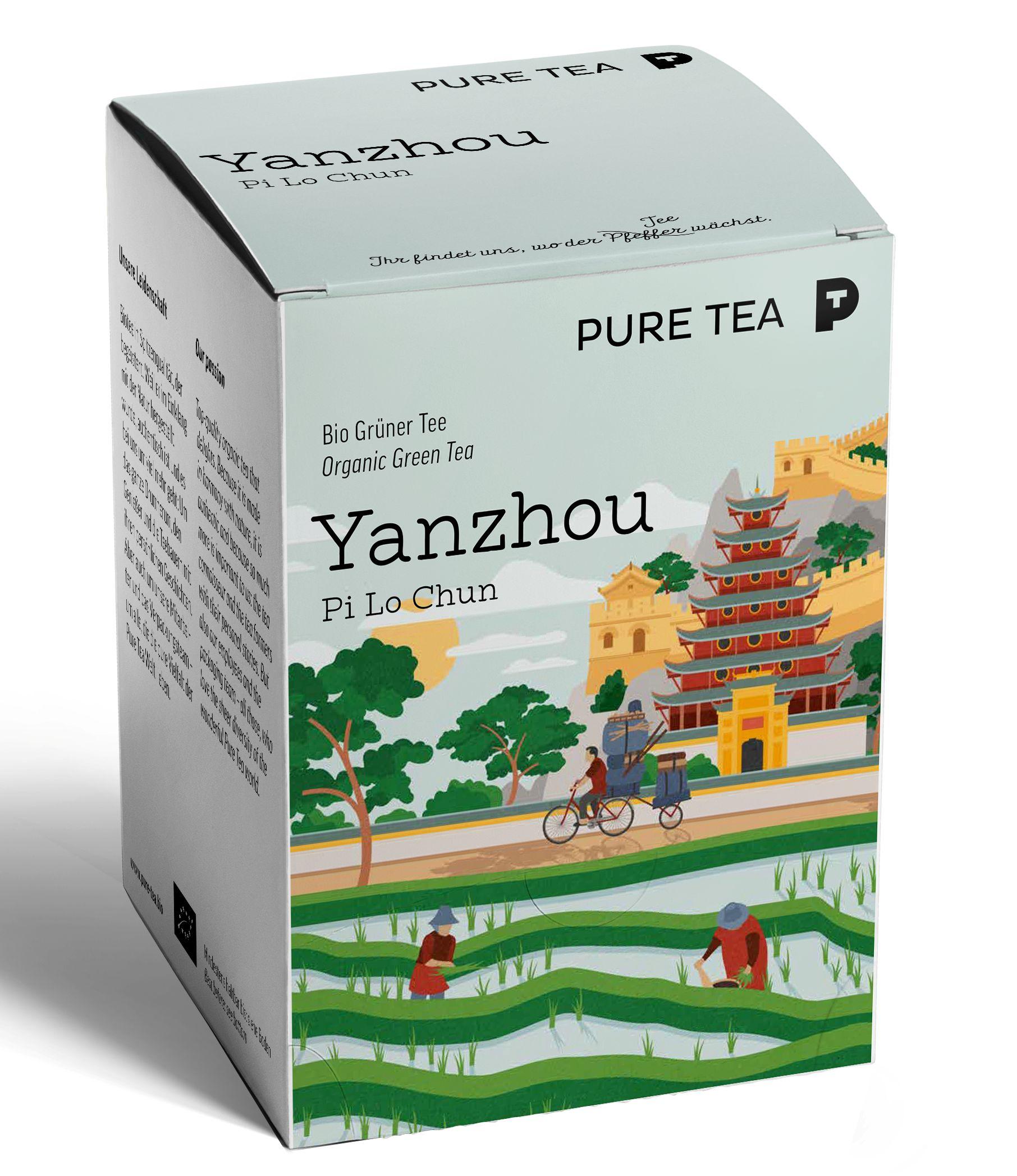 Bio Sweet Yanzhou Pi Lo Chun Grüntee Fair gehandelt