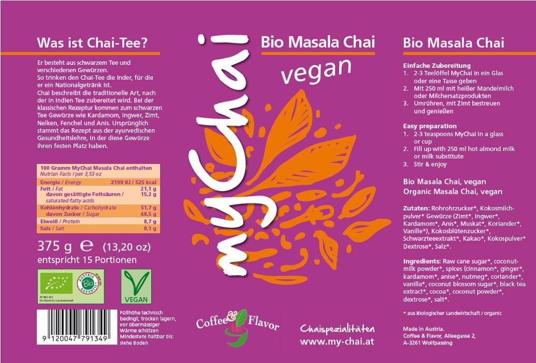 Inhalt-Etikett-Veganer-Chai-Masala
