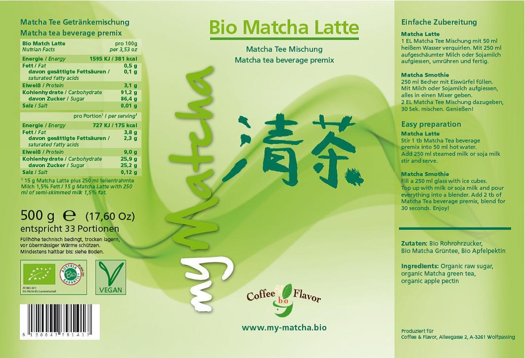 Matcha-Etikett