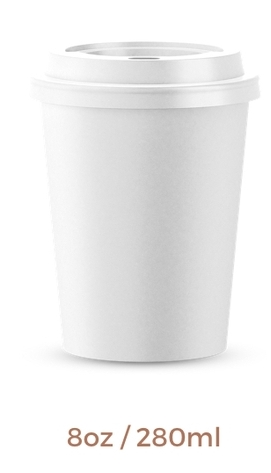 Becher 220ml ,8 oz White