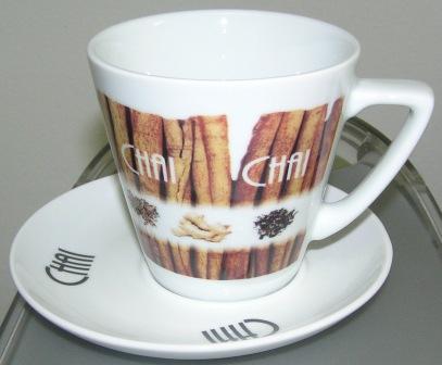Chai Tasse mit Unterteller 0,3 l