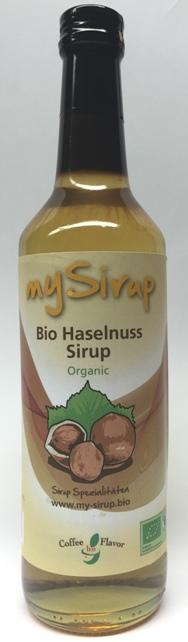 Bio Haselnuss Sirup 500ml Flasche