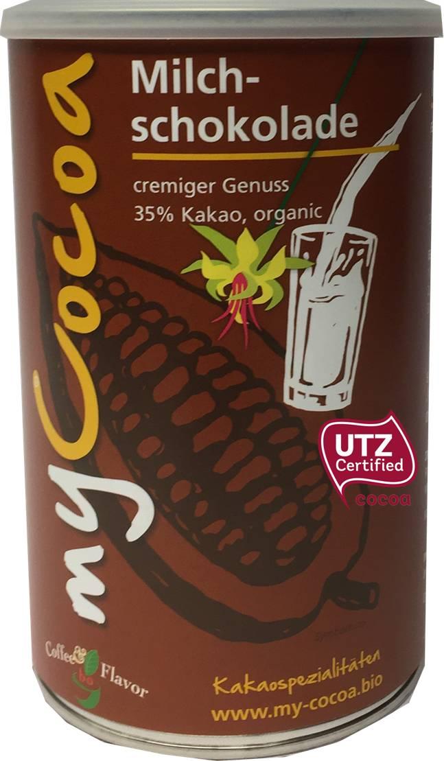 Bio MyCocoa cremige Milchschokolade 35 Prozent