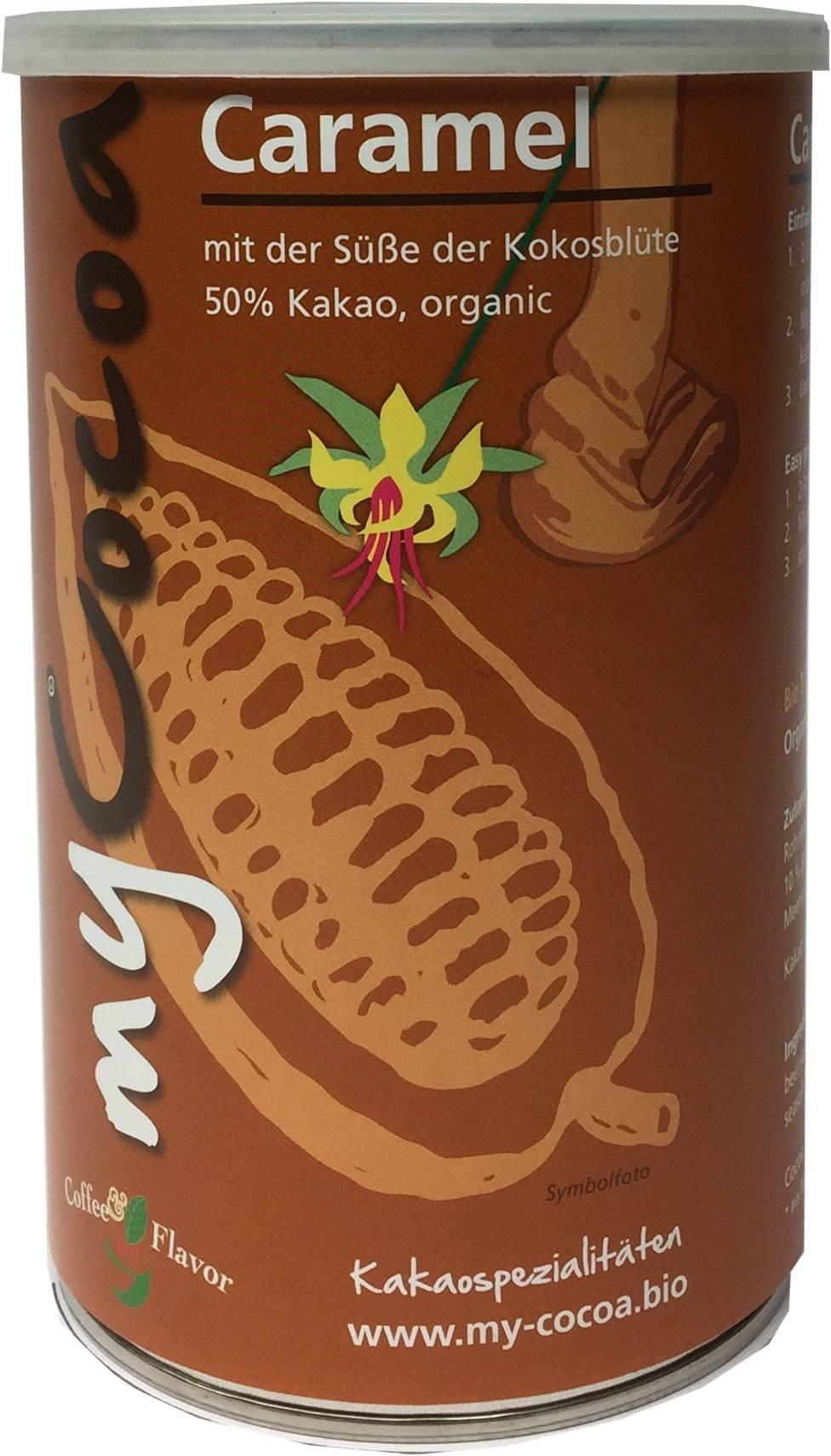 Bio MyCocoa Caramel mit der Süsse der Kokosblüte